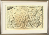 State of Pennsylvania, c.1795 Framed Giclee Print by Mathew Carey