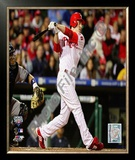 Chase Utley 2009 MLB World Series 3 Run Home Run Framed Photographic Print