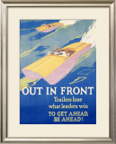 Out in Front Framed Giclee Print by Frank Mather Beatty
