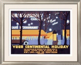 Your Continental Holiday Framed Giclee Print by Irwin Brown