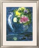 Enamorados con Ramo, c.1949 Lámina por Marc Chagall