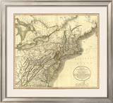 New York, Vermont, New Hampshire, c.1806 Framed Giclee Print by John Cary