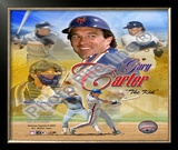 Gary Carter - (4 Team) Legends Framed Photographic Print
