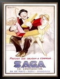 Saga Framed Giclee Print by Achille Luciano Mauzan