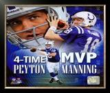 Peyton Manning 4 X MVP Portrait Plus Framed Photographic Print