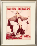 Un Coup de Folle Framed Giclee Print by Noel Fontanet