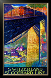 Switzerland, St. Gothard Line Framed Giclee Print by Dan Buzzi