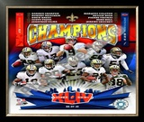 New Orleans Saints Super Bowl XLIV Champions Framed Photographic Print