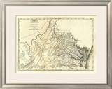 State of Virginia, c.1795 Framed Giclee Print by Mathew Carey