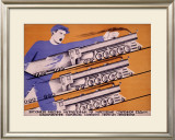 Workers Transportation Framed Giclee Print by D. Bulanov