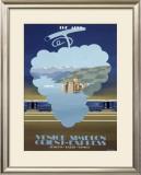Venice Simplon, the Alps Framed Giclee Print by Pierre Fix-Masseau