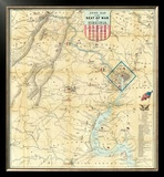 Army Map of The Seat of War In Virginia, c.1862 Framed Giclee Print by J. Goldsborough Bruff