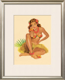 Hawaiian Pin-Up Girl, 1949 Framed Giclee Print by Al Moore