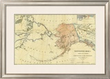 Northwestern America Showing the Territory Ceded by Russia to the United States, c.1867 Framed Giclee Print by Charles Sumner