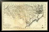State of North Carolina, c.1795 Framed Giclee Print by Mathew Carey