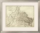 State of Virginia, c.1796 Framed Giclee Print by John Reid