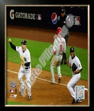 M.Teixeira & M.Rivera Game Six of the 2009 MLB World Series Framed Photographic Print