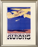 Transports par Avion Framed Giclee Print by  Terrando