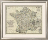 France, c.1861 Framed Giclee Print by Alexander Keith Johnston