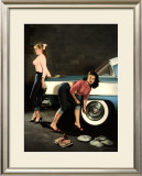 Pin-Up Girl: Rock a Billy Framed Giclee Print by Richie Fahey