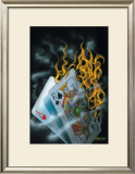 Burning Blackjack Art by Michael Godard