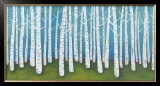 Springtime Birches Poster by Lisa Congdon