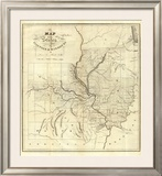 Map of the States of Illinois & Missouri, c.1823 Framed Giclee Print by Lewis C. Beck