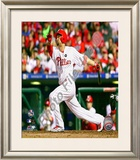Shane Victorino - 2009 NL Championship Series Game 5 Framed Photographic Print
