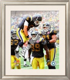 Mark Sanchez, Jericho Cotchery, & Dustin Keller Framed Photographic Print
