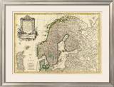 Suede, Danemarck et Norwege, c.1762 Framed Giclee Print by Jean Janvier