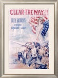 WWI, 4th Liberty Bond, Clear the Way Framed Giclee Print by Howard Chandler Christy