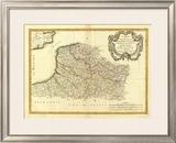 Flandre francoise, Artois, Picardie, Boulenois, c.1785 Framed Giclee Print by Rigobert Bonne