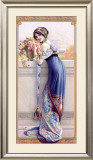 Gasper Camps Balcony Bouquet Poster Framed Giclee Print by Gaspar Camps