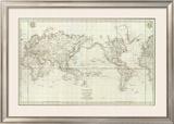 Mappemonde, c.1797 Framed Giclee Print by Jean-francois De Galaup La Perouse