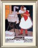 Johns Wash Machine Framed Giclee Print by Adolf Karpellus