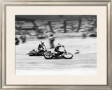 Indoor Short Track Roberts Eklund Framed Giclee Print by Jerry Smith