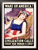 Wake Up, America Framed Giclee Print