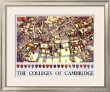 The Colleges of Cambridge Framed Giclee Print by Fred Taylor