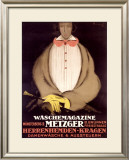 Waschemagazine Metzger Framed Giclee Print by Charles Gesmar