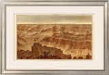 Grand Canyon: Panorama from Point Sublime (Part II. Looking South), c.1882 Framed Giclee Print by William Henry Holmes