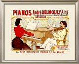 Pianos Delmouly Framed Giclee Print by J. Georges