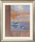 Sailing at Sunset I Poster by Vivien Rhyan