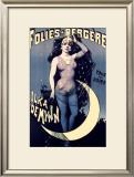 Folies Bergere, Moonlit Night Framed Giclee Print