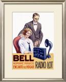 Jackson Bell Tube Radio Framed Giclee Print