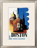 New Haven Railroad, Boston Framed Giclee Print by Ben Nason