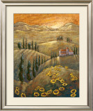 Tuscan Sunflowers II Print by Marshall Banks