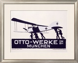 Otto-Werke, Munich Framed Giclee Print by Ludwig Hohlwein