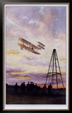 Wilbur Wright Aviation Biplane Framed Giclee Print by A Serougart