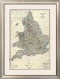 Composite: England, Wales, c.1861 Framed Giclee Print by Alexander Keith Johnston