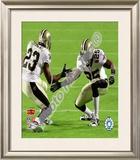Reggie Bush & Pierre Thomas Super Bowl XLIV Celebration Framed Photographic Print
